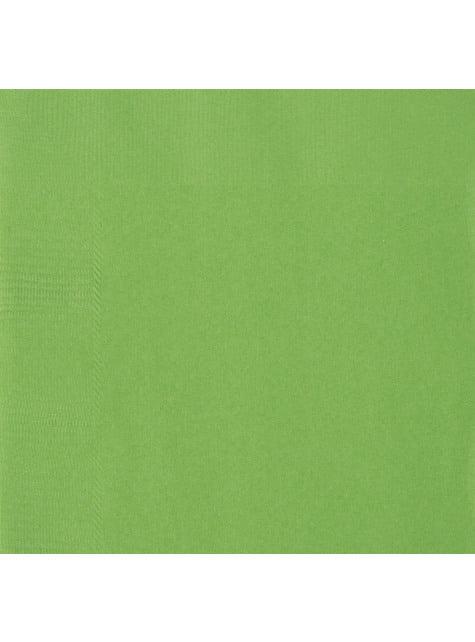 50 servilletas verde lima (33x33 cm) - Línea Colores Básicos