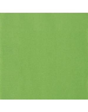 50 grandes Serviettes en papier vertes- Gamme couleur unie