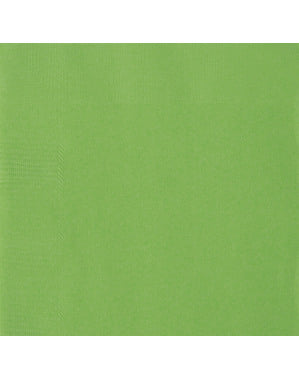 50 grote limoengroene servette (33x33 cm) - Basis Kleuren Lijn