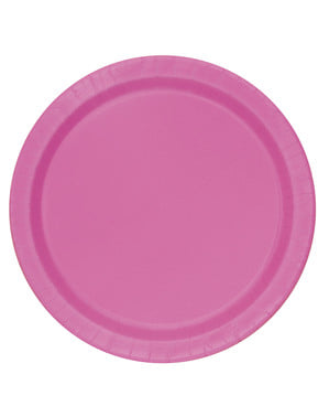 8 roze dessert borde (18 cm) - Basis Kleuren Lijn