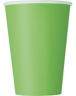10 big lime green cups - Basic Colours Line