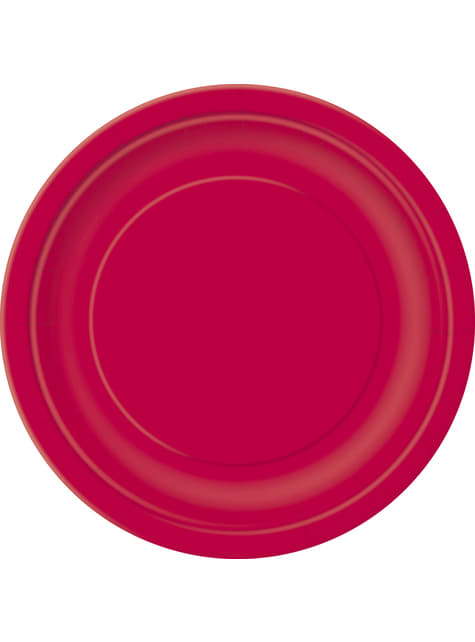 16 platos rojo rubí (23 cm) - Línea Colores Básicos