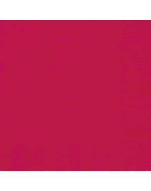 50 grote rode servette (33x33 cm) - Basis Kleuren Lijn