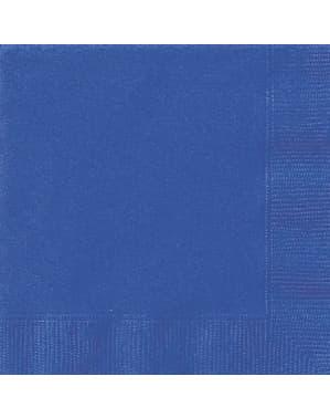 20 kpl isoa tummansinistä servettiä - Perusvärilinja
