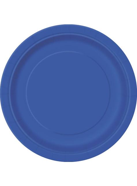 8 platos azul oscuro (23 cm) - Línea Colores Básicos