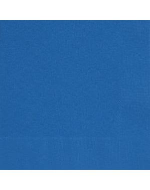 50 grandes Serviettes en papier bleues foncé - Gamme couleur unie