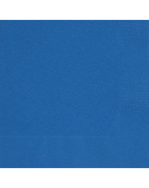 50 servilletas azul oscuro (33x33 cm) - Línea Colores Básicos