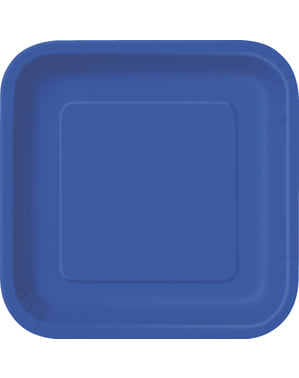 Set od 14 tamno plavih kvadratnih ploča - linija osnovnih boja