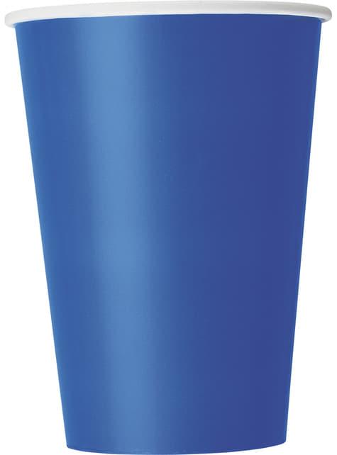 10 grands gobelets couleur bleu foncé - Gamme couleur unie