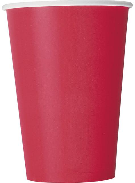 10 vasos grandes rojos - Línea Colores Básicos