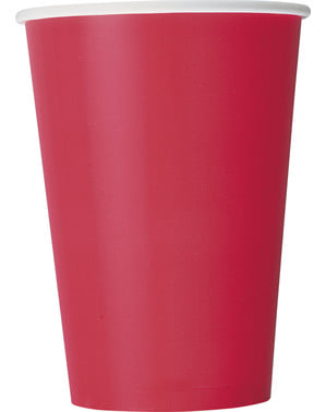 10 grands gobelets rouges - Gamme couleur unie