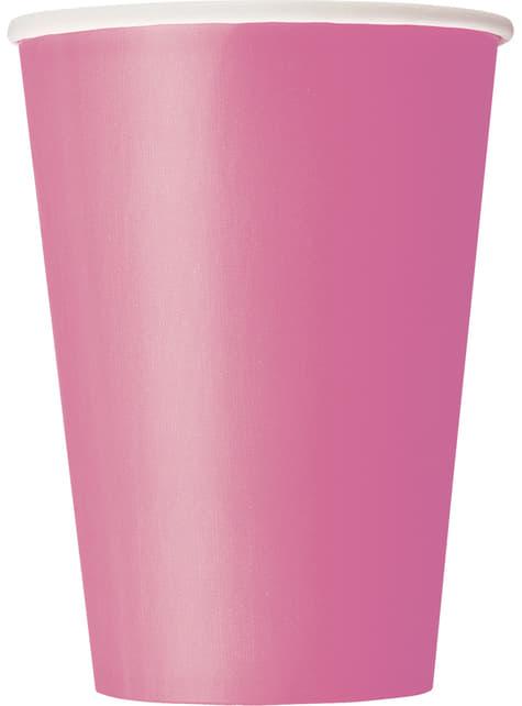 10 kpl isoa pinkkiä kuppia - Perusvärilinja