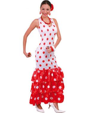 Sevillansk kvinde kostume hvid