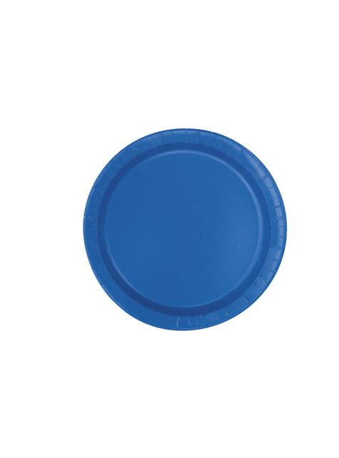 16 assiettes bleues foncé - Gamme couleur unie