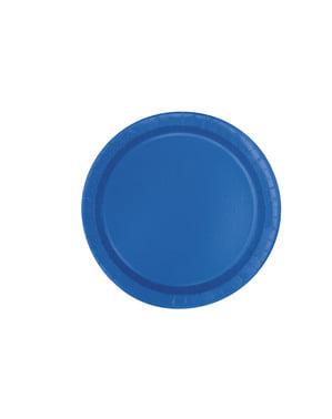 16 donkerblauwe borde (23 cm) - Basis Kleuren Lijn