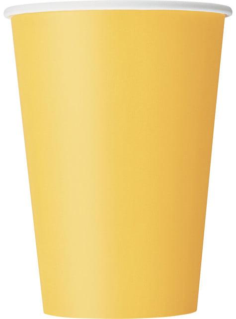 Set de 10 vasos amarillos - Línea Colores Básicos