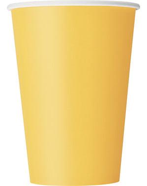 10 vasos amarillos - Línea Colores Básicos