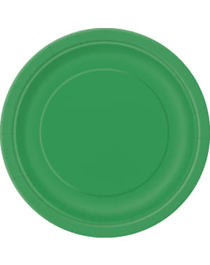 8 pratos de sobremesa verde esmerald (18 cm) - Linha Cores Básicas