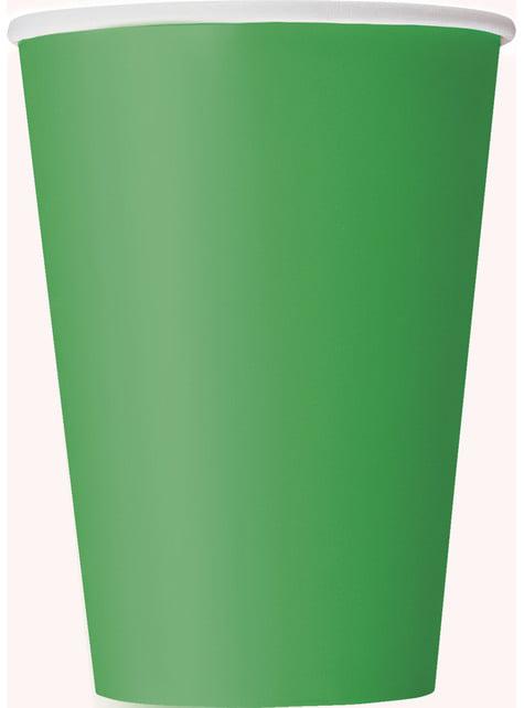 10 kpl isoa emeraldinvihreää kuppia - Perusvärilinja