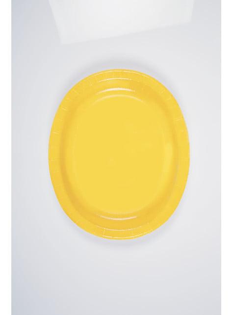 Set de 8 bandejas ovaladas amarillas - Línea Colores Básicos