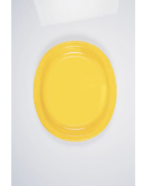 8 yellow oval trays - Basic Colours Line