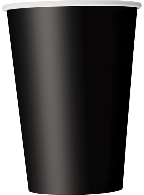 10 grands gobelets noirs - Gamme couleur unie