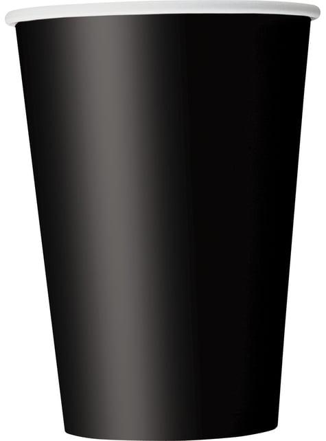 Conjunto de 10 copos grandes pretos - Linha Cores Básicas