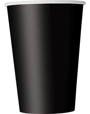 Große Becher Set 10-teilig schwarz - Basic-Farben Kollektion