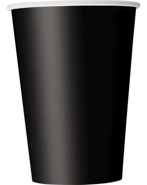 10 big black cups - Basic Colours Line