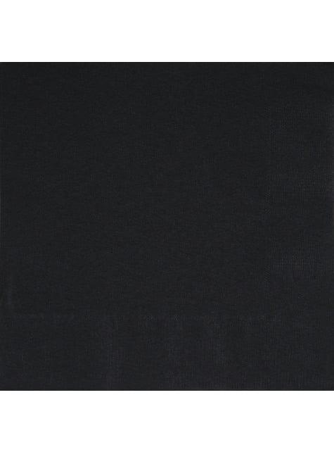 50 servilletas negras (33x33 cm) - Línea Colores Básicos