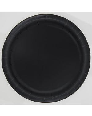 16 platos negro (23 cm) - Línea Colores Básicos