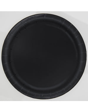 16 black plate (23 cm) - Basic Colours Line