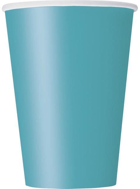 10 grands gobelets couleur vert d'eau - Gamme couleur unie
