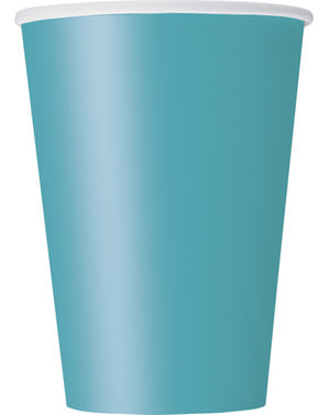 10 vasos grandes color aguamarina - Línea Colores Básicos