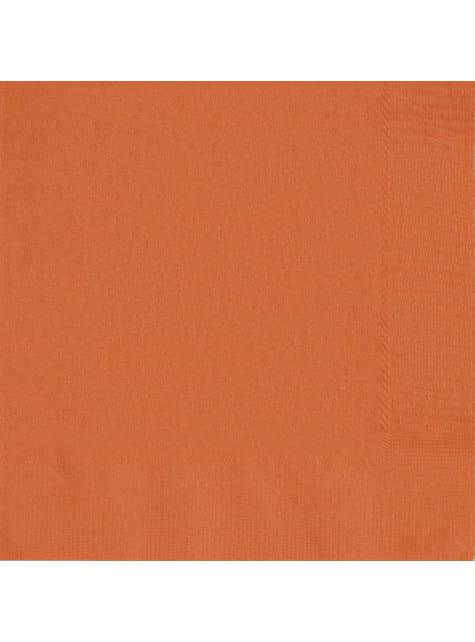 50 servilletas naranjas (33x33 cm) - Línea Colores Básicos