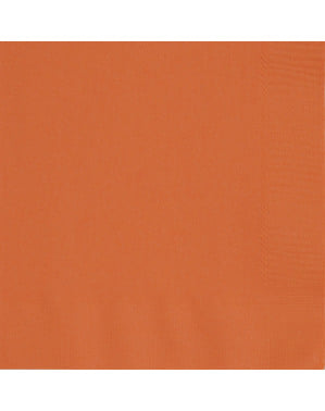 Zestaw 50 dużych pomarańczowych serwetek - Linia kolorów podstawowych