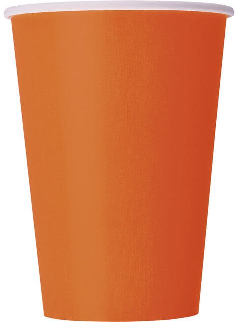 10 kpl isoa oranssia kuppia - Perusvärilinja