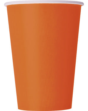 10 grands gobelets oranges - Gamme couleur unie