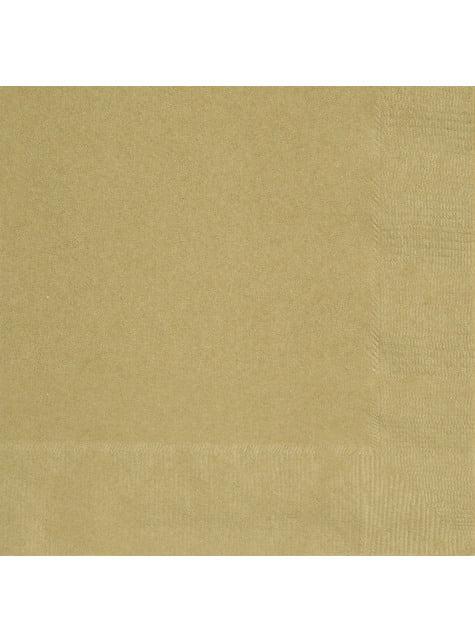 50 servilletas doradas (33x33 cm) - Línea Colores Básicos