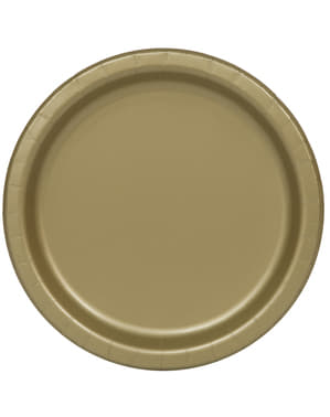 20 gouden dessertborde (18 cm) - Basis Kleuren Lijn
