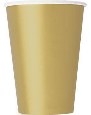 Zestaw 10 dużych złotych kubków - Linia kolorów podstawowych