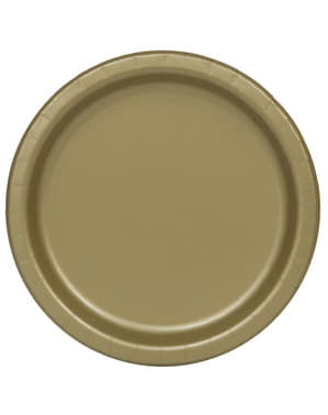 16 gouden borde (23 cm) - Basis Kleuren Lijn