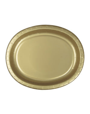 8 gold oval trays - Basic Colours Line