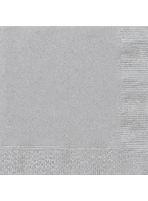 50 servilletas plateadas (33x33 cm) - Línea Colores Básicos