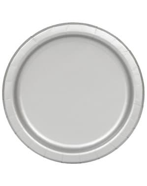 Набір із 16 срібних тарілок - Line Basic Colors