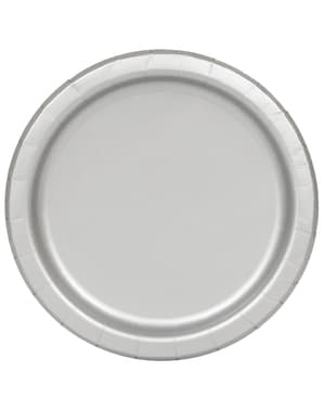 Teller Set silber 16-teilig - Basic-Farben Kollektion