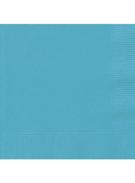 20 grandes serviettes couleur vert d'eau - Gamme couleur unie