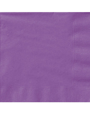 20 guardanapos grandes roxo (33x33 cm) - Linha Cores Básicas