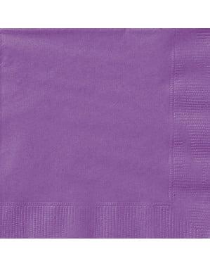 Zestaw 20 dużych fioletowych serwetek - Linia kolorów podstawowych