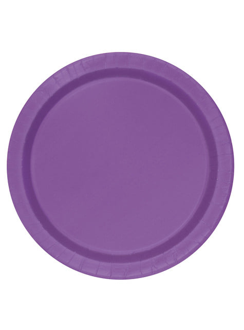 8 platos pequeños morados (18 cm) - Línea Colores Básicos